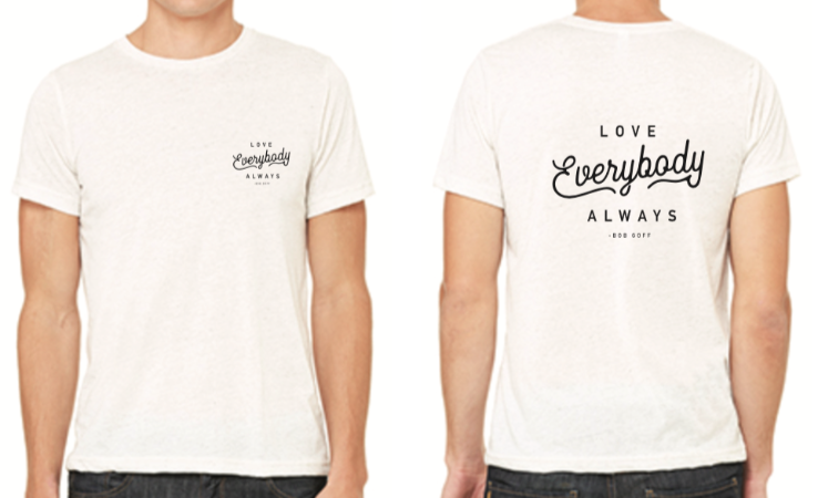 "White ""Love Everybody Always"" T-Shirt"