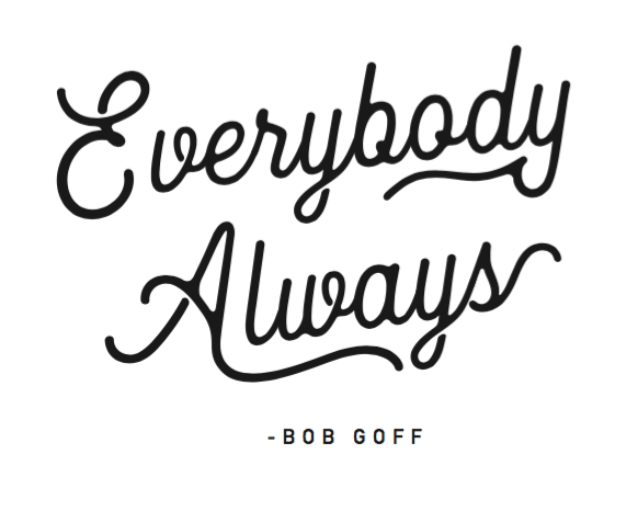 "Black ""Everybody Always"" T-Shirt"