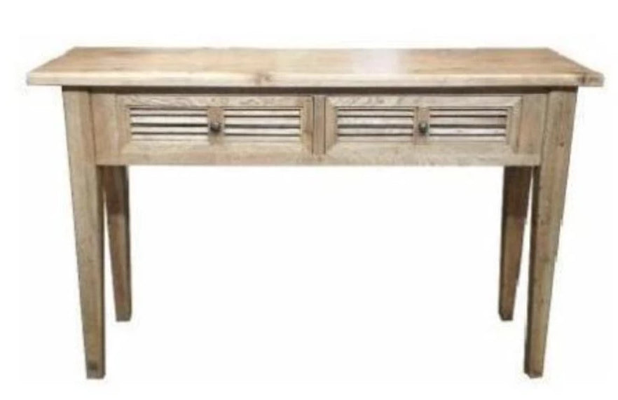 PLANTATION OAK CONSOLE TABLES