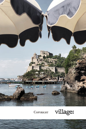 ISCHIA | Coastal Castle On Canvas