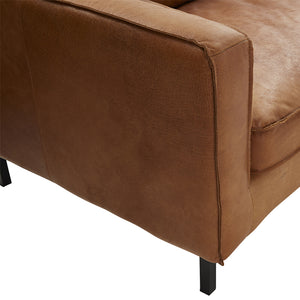 HENRY 3 SEAT LEATHER SOFA