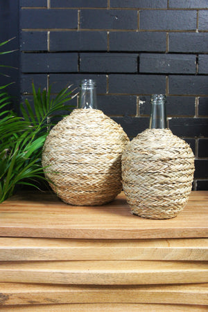 Glass Rattan Bottle