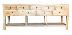 SONEVA 9 DRAWER CONSOLE TABLE