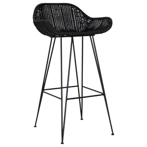 ANGOLA BAR CHAIR | BLACK