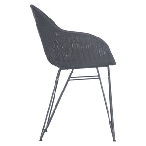 ANGOLA DINING CHAIR - BLACK