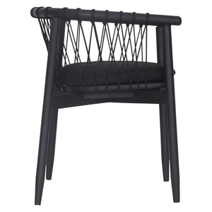 ARNISTON DINING CHAIR - BLACK
