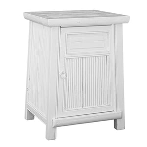 Bamboo Bedside Set | White