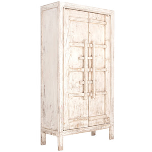 BULU TALL CABINET - WHITE