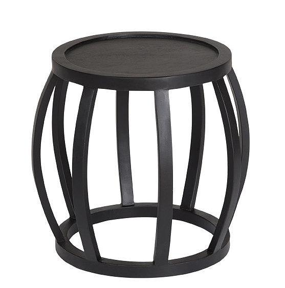 CRABO SIDE TABLE - BLACK FRENCH OAK
