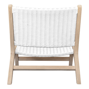 CAPE TOWN OCCASIONAL CHAIR | WHITE HERRINGBONE