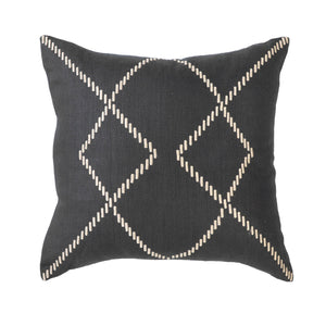STITCHED BLACK CUSHION