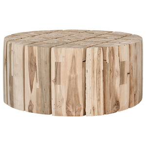 HAMALI BLOCK COFFEE TABLE ROUND | NATURAL