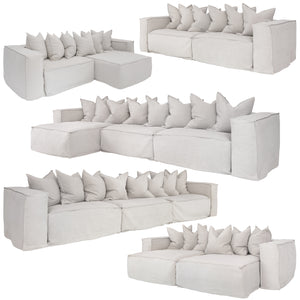 HENDRIX MODULAR SOFA - CHAISE PIECES - SAND