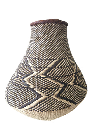 PATTERNED BINGA BATONGA BASKET