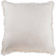 LUCA FRINGED CUSHION - WHITE