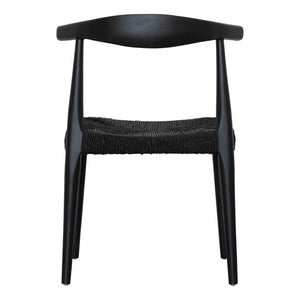 MAKELO HORN DINING CHAIR | BLACK