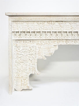 SAVANAH | Carved White Console