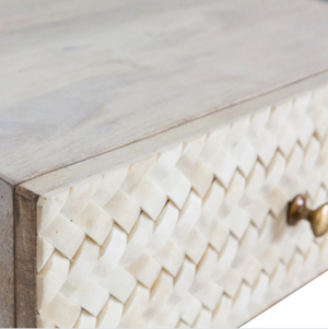 AMARA | HERRINGBONE BEDSIDE TABLE