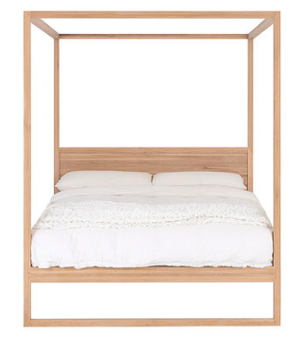 STRAND FOUR POSTER BED FRENCH OAK - NATURAL