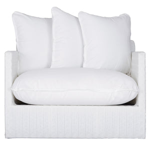 SINGITA OUTDOOR SOFA SINGLE SEAT - WHITE