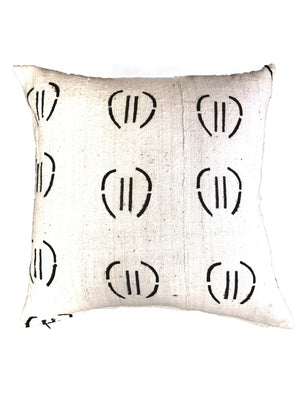 AUTHENTIC WHITE MUDCLOTH CUSHION - A