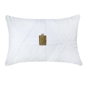 AMULET CAIRO LUMBER CUSHION - WHITE