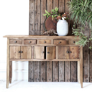 RUSTIC ELM WIDE CONSOLE
