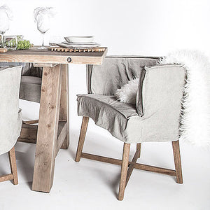 GUATEMALA DINING CHAIR - FOG