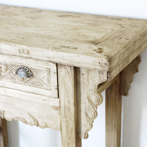 LYRA CARVED CONSOLE TABLE