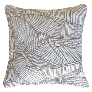 RAKE PALM CUSHION - WHITE