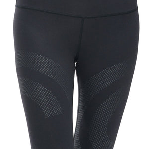 Women's Breathable Quick Dry Fitness Leggings with Mesh Stripes
