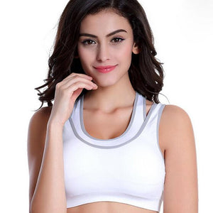 Women's Padded Sports Bra with Netting