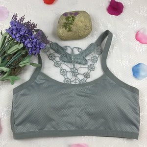 Women's Fitness Tank Top Sports Bra with Butterfly Design on Back