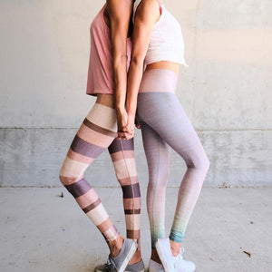 Designer Yoga Pants with Stripes