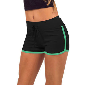 Women's Gym Shorts with Elastic Waist and Outline