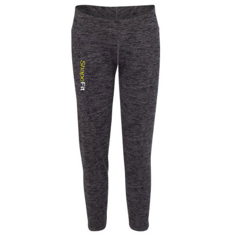 ShapeFit Fitness Leggings - Graphite & Black Blend - Logo on Right Leg