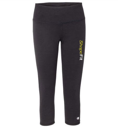 ShapeFit Fitness Leggings - Capri - Logo on Left Leg