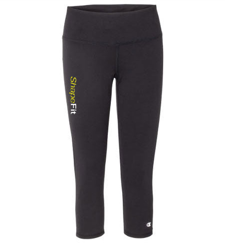 ShapeFit Fitness Leggings - Capri - Logo on Right Leg