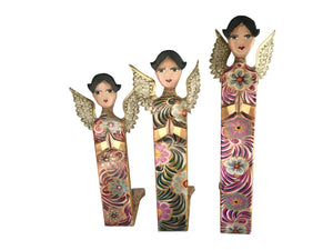 Trio Hand Painted Angels