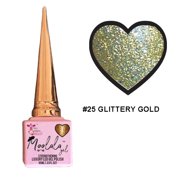 Moolala™ 2 STEP GEL - #25 GLITTERY GOLD