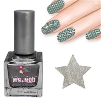 Nail art polish 15 ml SILVER