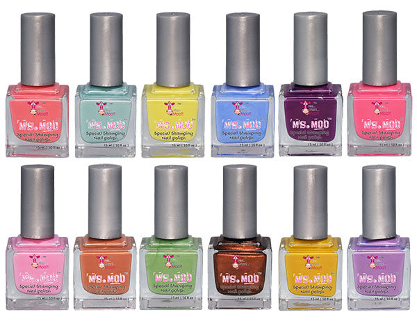 NAIL ART POLISHES - DELUXE 12