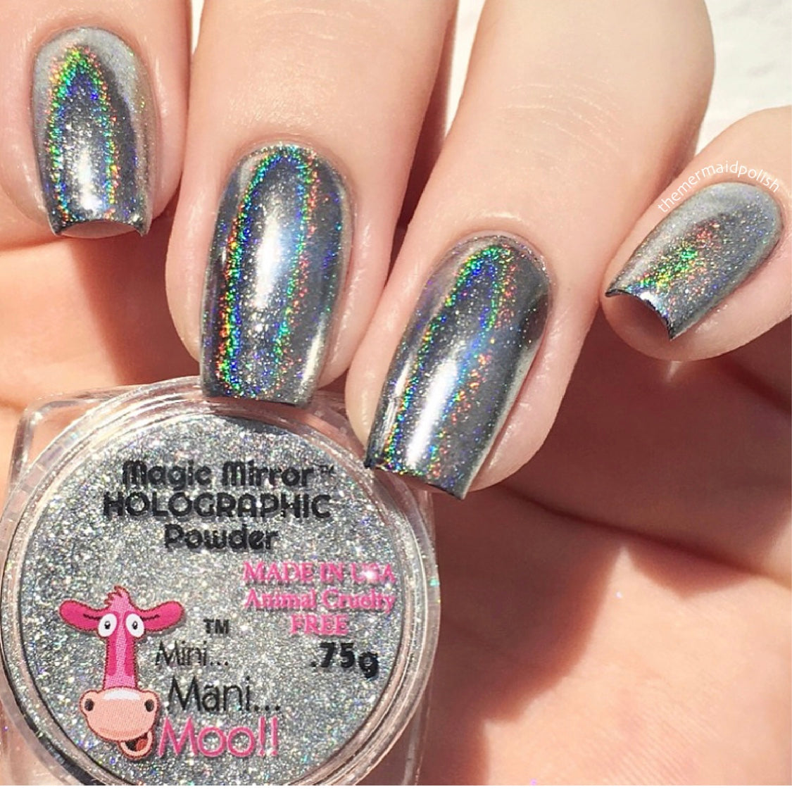 Magic mirror SILVER HOLOGRAPHIC powder