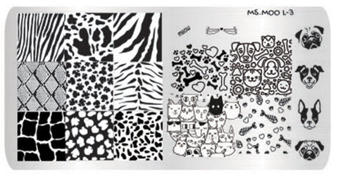 3 Ms. Moo™ Large Stamping plate bundle