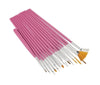 PINK Nail art brush set 15 pc
