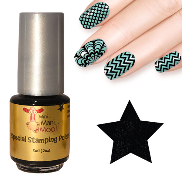 Nail art polish 5 ml BLACK