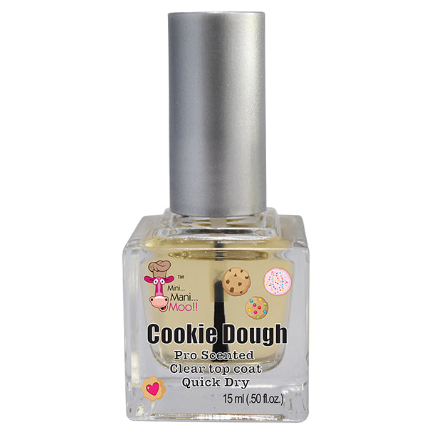Cookie Dough scented glossy top coat