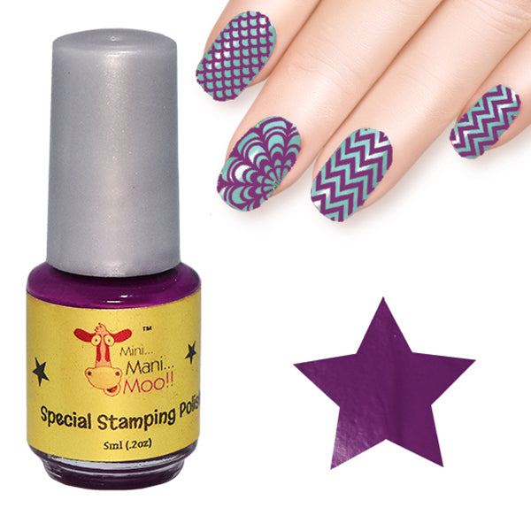 Nail art polish 5 ml GRAPE