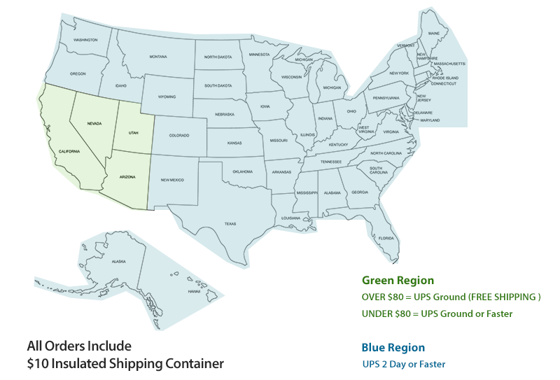 Summer Shipping Policy Brandini Toffee - Ups shipping zone map