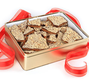 Gold Tin with Brandini Toffee